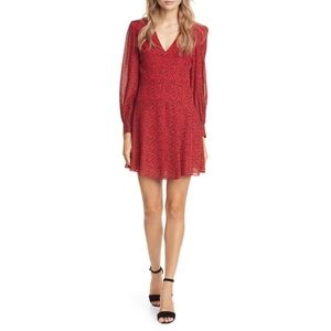 Alice+ Olivia Womens Size 0 Red Long Sleeve Dress